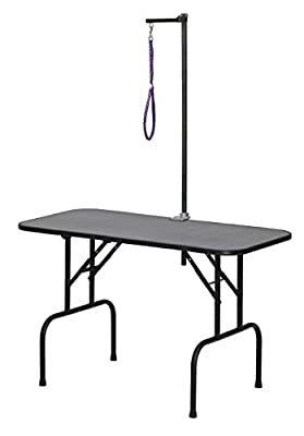 MidWest Homes for Pets G4824A Plywood Grooming Table with G3ZA48 Arm