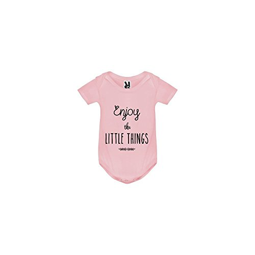 TSHIRT MK Body bébé - Enjoy The Little Things - Bébé Fille - Rose - 12MOIS