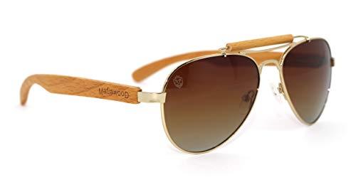 Óculos de Sol Sonny Brown, Mafia Wood Exclusive Wear, Adulto Unissex, Marrom, M