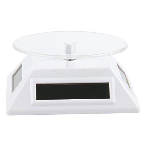 TRIXES Soporte Giratorio Blanco Exhibición Productos Arte Joyería Exposición Fotografía Alimentado por Batería Solar