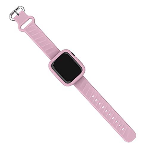 Estuche blando con correa de silicona para Apple Watch Series SE 6...