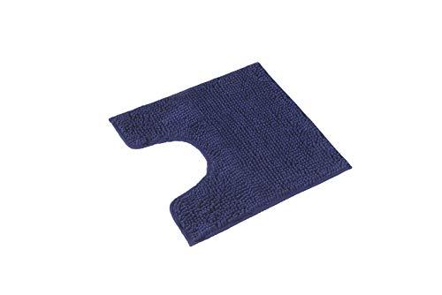 PANA Flauschiger WC Vorleger MIT Ausschnitt   Chenille Badematte in versch. Farben und Größen   Badteppich rutschfest & waschbar - 45 x 45 cm