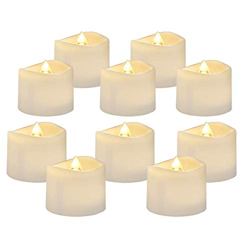 AMAGIC 24 Pack Flameless Tea Lights, Battery Operated LED TeaLight Candles for Thanksgiving Christmas Decor, Warm White, Flickering, D1.4'' H1.25''