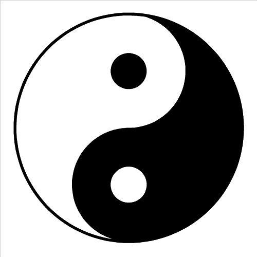 yaonuli Yin Yang Symbol Yin Yang Wandaufkleber Vinyl Aufkleber Vinyl Abnehmbarer Wandaufkleber130X130cm
