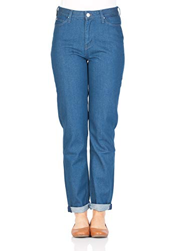 Lee Dames Jeans Mom - Straight Relaxed Fit - Blauw - Rinse