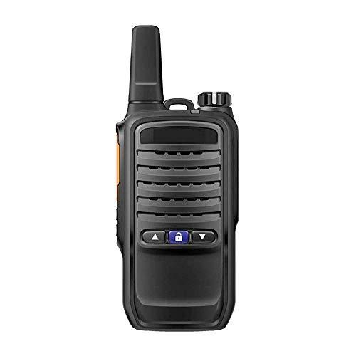 DGHJK Walkie Talkies, Recargable, bidireccional, Uso Civil al Aire Libre, portátil, ingeniería, Propiedad, walkie (Negro)