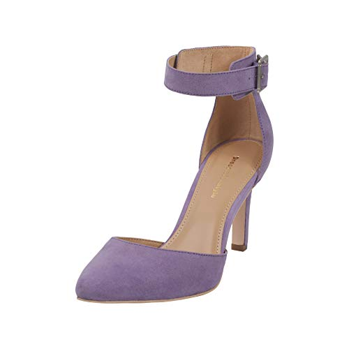 Women's Closed Toe High Heel Stiletto Dress Pump| Pointed Toe Ankle Strap Party Shoes for Ladies| Sexy Sandals (5, Purple)