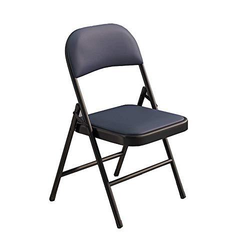 TTZY Bequeme Stühle, Faltbarer Esstisch und Stühle, Multirpose Klappstuhl, Picknick-Klappstühle Leicht, beweglicher im Freien Stuhl - 4 Farben erhältlich (Farbe: Schwarz) SHIYUE (Color : Dark Blue)