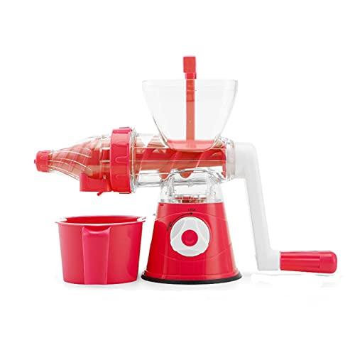 Máquina de Blender Portátil Máquina Herramientas de Cocina Juicer Mini Jugo Extruador Lento Naranja Limemon Maker Blender Extractor Herramienta (Color : Red)