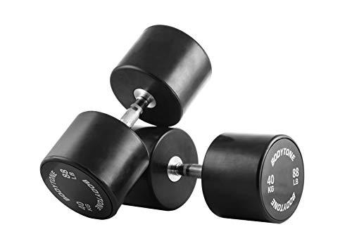 BT BODYTONE Mancuernas de Goma/Rubber Dumbbells 40 kg (par/Pair)