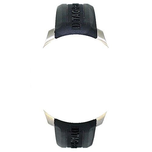 20 mm Cinturini Gomma di silicone nero con fibbia argento per TAG Heuer