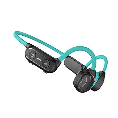 MERIGLARE Auriculares de Conducción ósea Bluetooth 5.0 230mAh Orejas Dobles IP56 para Ciclismo Gimnasio Natación Deporte - Azul