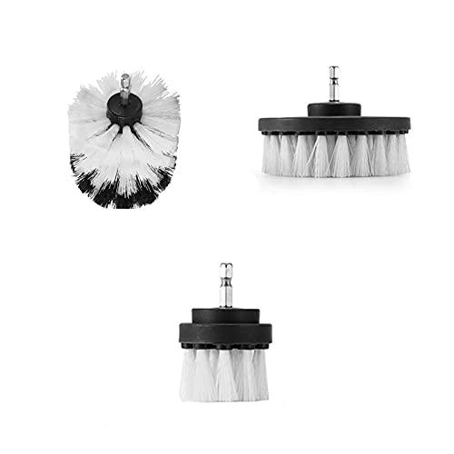 NZNZ Limpieza de cepillos de Taladro para el hogar Cepillos Productos de baño Detalle para Kit de Coche Cepillo Destornillador Cocina Herramientas de Lavado (Color : A - White)