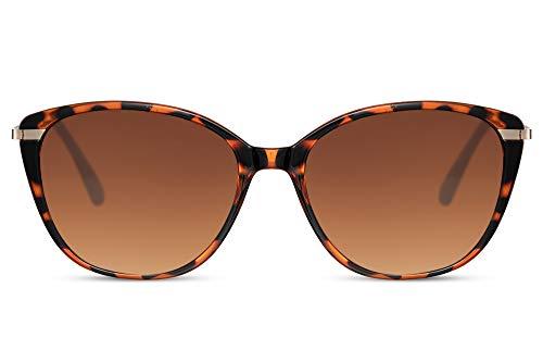 Cheapass Sonnenbrillen Normale Größe Frauen Schmetterling Schattierungen Leopard Gestell mit braunen Linsen UV400 geschützt