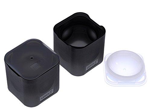 Lurch 240730 Ice Form Lot de 2 moules Silicone de qualité supérieure pour Boules de Glace de 6 cm, Noir, 6,5 x 15,5 x 13 cm
