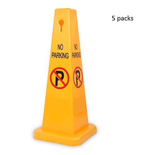 XXW Cono De Trafico Barricada de plástico Cono de estacionamiento Pila Reflexiva Cono de Advertencia Cono Carretera Cono Barrera Columna Amarillo Señal Cónica (Color : 5 Packs, tamaño : 67cm)