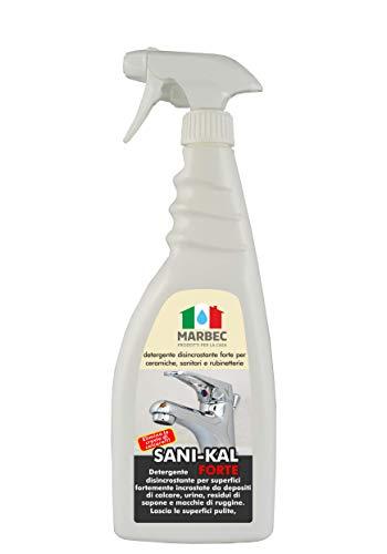Marbec - SANI-KAL Forte 750ml   Detergente decalcarizzante disincrostante Forte per Sanitari e ceramiche