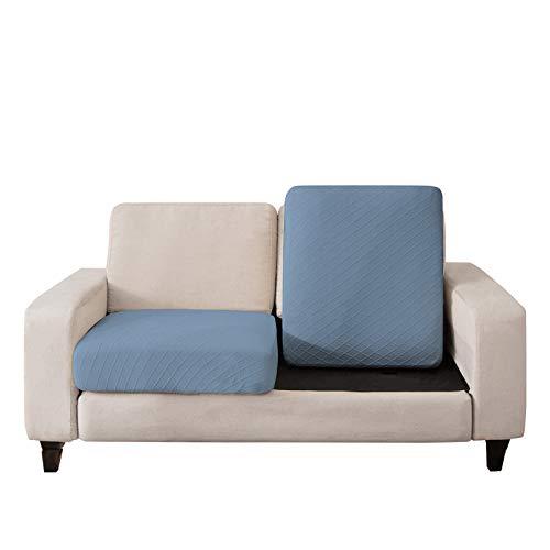 C/N Funda de cojín Asiento para sofá elástica 3 plazas Fundas para sofá Cojines Cubre Sofa Cojines de Asiento Protectora para sofá Fundas de Sillón Asientos Lago Azul