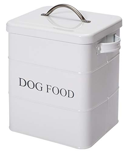 Best Buy! Geyecete airtight Dog Treat Container bin and Dog Food Storage Tin with Lid with Handle Se...