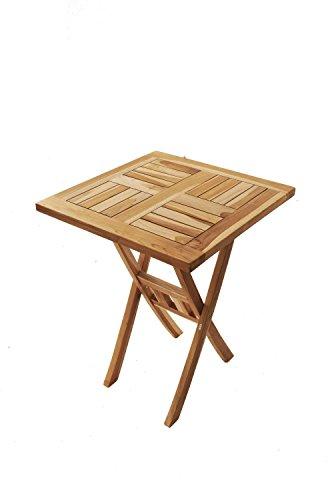 SAM SAM Teak-Holz 70x70 cm, Garten- Balkontisch massiv, quadratisch, zusammenklappbar