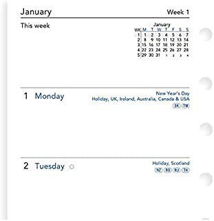 Filofax Pocket Week on Two Pages English 2021 Diary