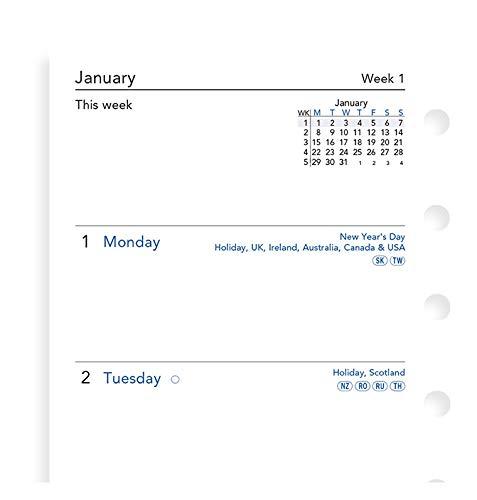 Filofax Pocket Week op twee pagina's Engels 2021 dagboek