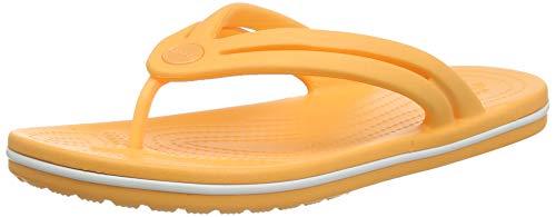 Crocs Damen Crocband Flip Zehentrenner, Orange (Cantaloupe), 41/42 EU