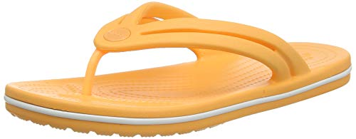 Crocs Women's Crocband Flip Flop | Slip On Water Shoes | Casual Summer Sandal, cantaloupe, 8 M US