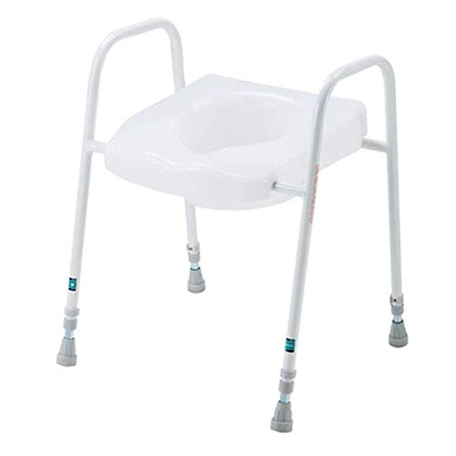 Bathroom Wheelchairs RRH Bedside Commodes Free-Standing Toilet Frame, Adjustable Toilet seat, Old Toilet Frame