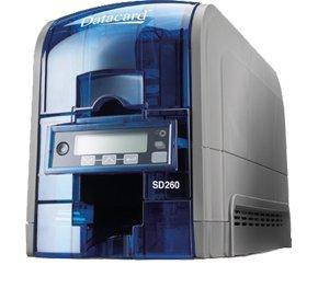Sd260s simple face imprimante avec Mag Stripe Encoder, librement Couplée Identive Contact/sans contact Encodeur et 100carte d'entrée Hopper