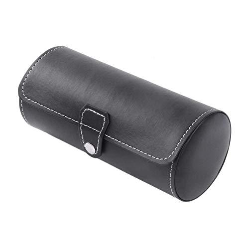 XIANGAI Cylindre Compact et élégant Forme 3 Grids PU Montres en Cuir Affichage des boîtes Cas Boîte de Rangement Case Bijoux Organisateur Horloge Dozen