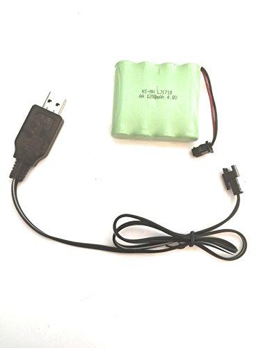 YUNIQUE DEUTSCHLAND 1 Piece NI-Mh 4.8V 1200mah AA wiederaufladbare Batterie akku sm 2p stecker für Spielzeug Macht Bank + USB Ladegerat