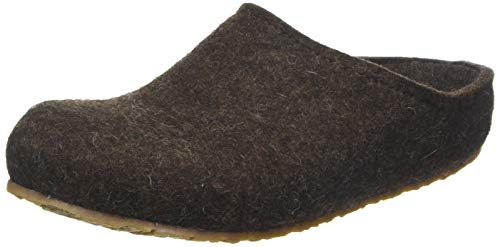 HAFLINGER Unisex-Erwachsene Grizzly Michl Pantoffeln, Braun (Schoko 552), 45 EU
