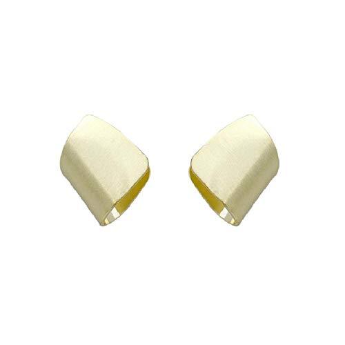 Elegant Matte Gold Color Geometric Earrings for Women Irregular Simple Metal Earrings Statement Jewelry