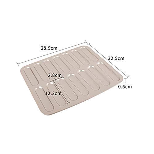 MSM Non-Stick Förmchen Tablett, 14 hohlraum Kohlenstoffstahl Ofen Home Backform Blitz-blätterteig Finger-keks Schimmel-Gold 32.5X28.9X0.6cm
