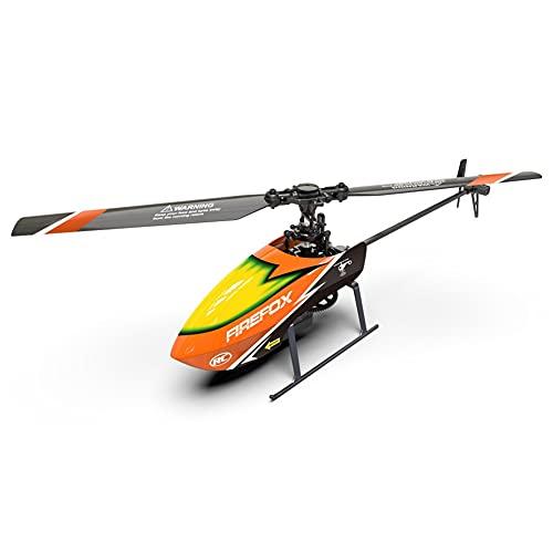 GRTVF Elicottero for controllo remoto, elicottero a 4 canali Ailerosless-altezza fissa Elicottero C129 Telecomando elettrico for bambini Modello aviazione aeronautico for bambini (Colore : Orange)