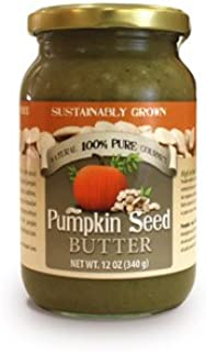 Organic Pumpkin Seed Butter | Made with 100% Pumpkin Seeds without any Additives, Preservatives, or sugar and salt - 12 Oz