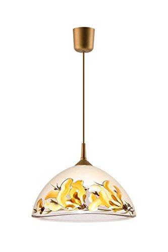Küchenlampe Deckenleuchte Deckenlampe Glas individuell handbemalt E27 (LM-1.2 5 19741)