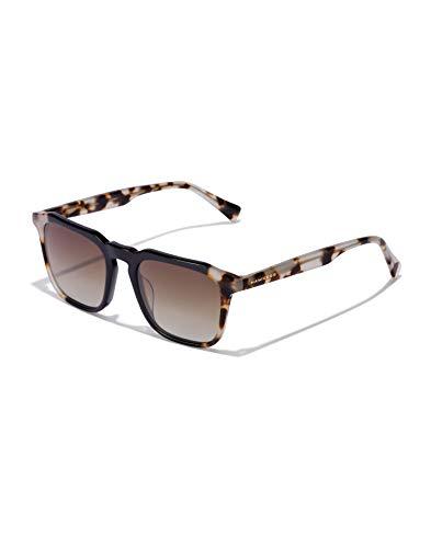 HAWKERS Gafas de Sol Eternity Black, para Hombre y Mujer, con montura negra y carey y lentes degradadas marrones, Protección UV400, One Size Unisex adulto