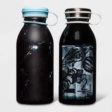 12oz 2pk Stainless Steel Water Bottle Constellation Space Black - Cat & Jack