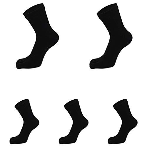 GDSMTG Desodorante Puro algodón del Dedo del pie Calcetines de los Hombres de Color sólido de Cuatro Estaciones de Deportes Sudaderas Cinco Dedos Calcetines de algodón Calcetines de Split Toe Mecha