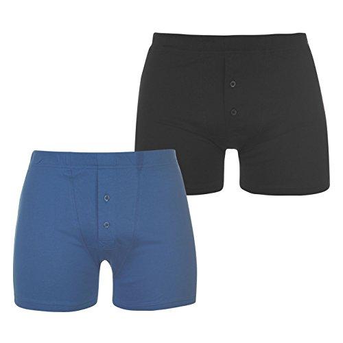 Slazenger Herren 2 Stück Boxer Unterhose Marinefarbe/blau Medium