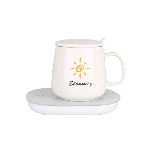 CTing Tazas de Porcelana 450ml Juego de tazas de café con termostato (blanco)