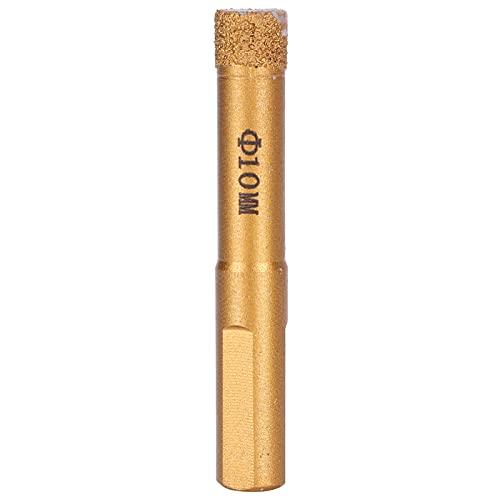Broca de diamante, broca que corta más rápido y más duradera Buena resistencia para la fábrica para el hogar(10mm)