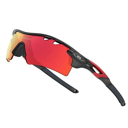 WOOLIKE Sports Sunglasses Driving Glasses Shades for Men Women TR90 Unbreakable Frame for Cycling Baseball 801 (Black Red -Upgrade)