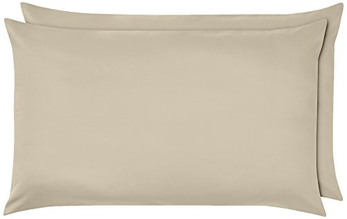 Amazon Basics Pillowcase, Beige, 50 x 80 cm