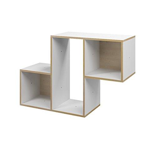 Ehring Markenmöbel Tetris Regal Z aus Holz, Farbe weiß