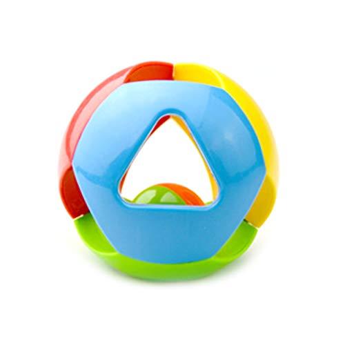 Color Yun Juguete de Bola de sonajero para bebé, Agarre a Mano, agitador, Campana, Juguete de Desarrollo sensorial, Bola de baño para niños pequeños