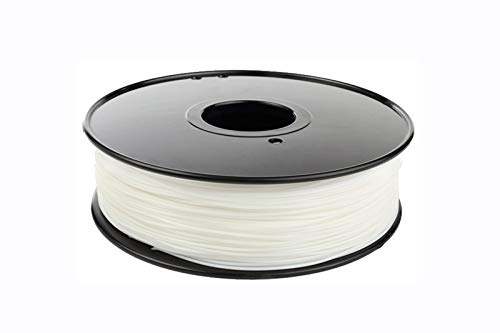 W-Shufang,3D Nylon Filament 1.75mm 3mm Choice 3D Nylon Black White Natural Color 3D Filament Nylon PA 1 kg 3D filamento (Color : White Nylon)