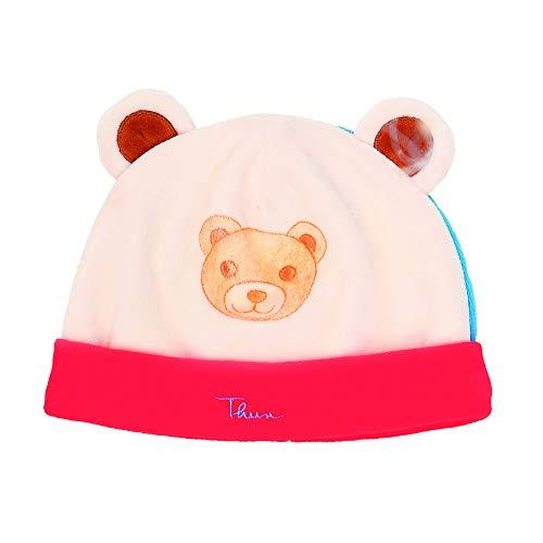 THUN - Cappellino Neonato con Musetto Teddy - Abbigliamento Neonati - Linea Baby 6 Mesi, 62 cm